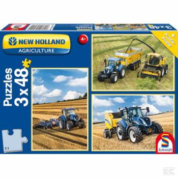 Puzzel New Holland 3 x 48 st - SH56214