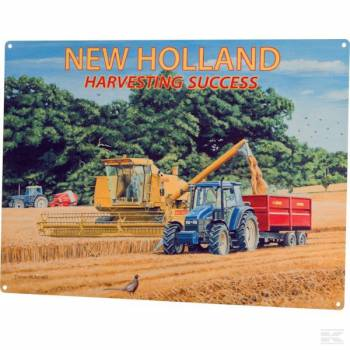 Bord New Holland harvesting -